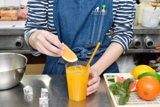 ジュースのサンプル食品